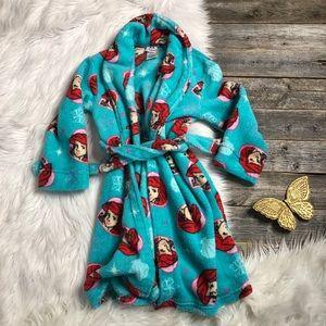 Disney The Little Mermaid Robe Ariel Girls size 6